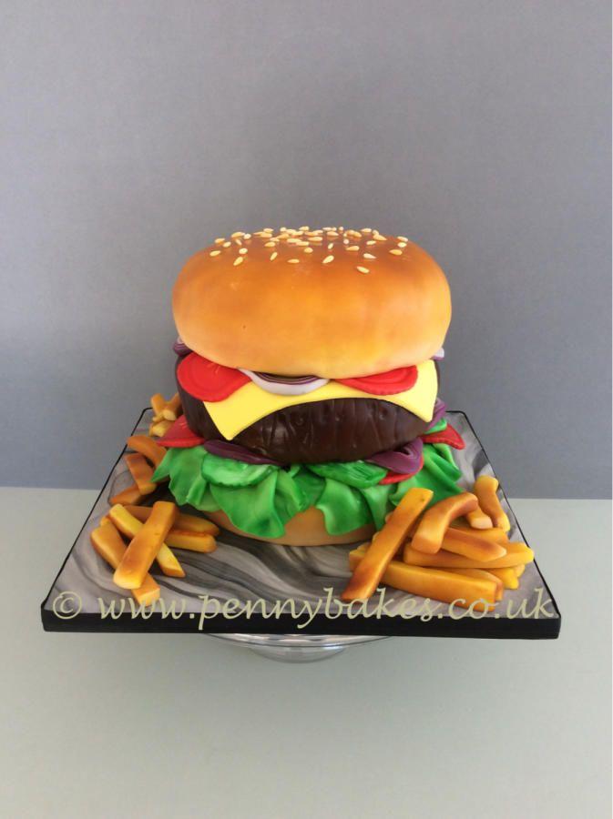 Mega Burger Cake By Penny Sue Motivtorten Motivtorten Torten