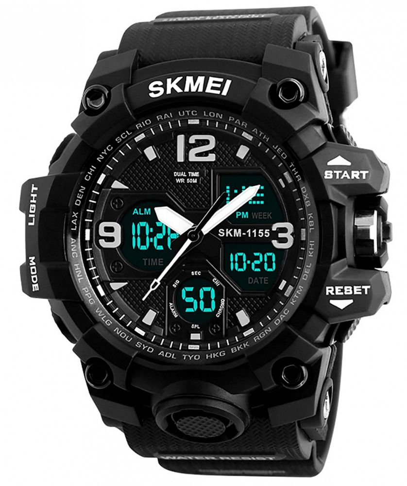 Men Digital Wrist Watch Sports Analogue Dual Time Military 50m Waterproof Kdm Military Military Watches Digital Sports Watches Mens Sport Watches