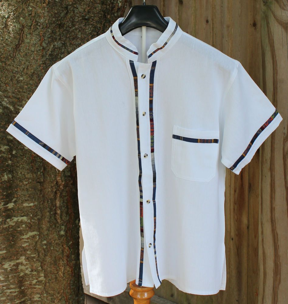421c83927d Latin American Men s Guayabera Shirt - made in Oaxaca Mexico - Great  Details!!  Handmade  Guayabera