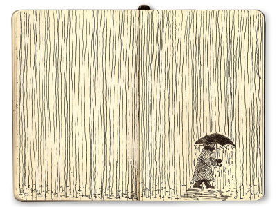 Inspiration Hut - 100+ Beautiful Moleskine Sketchbook Sketches - Illustration, Inspiration