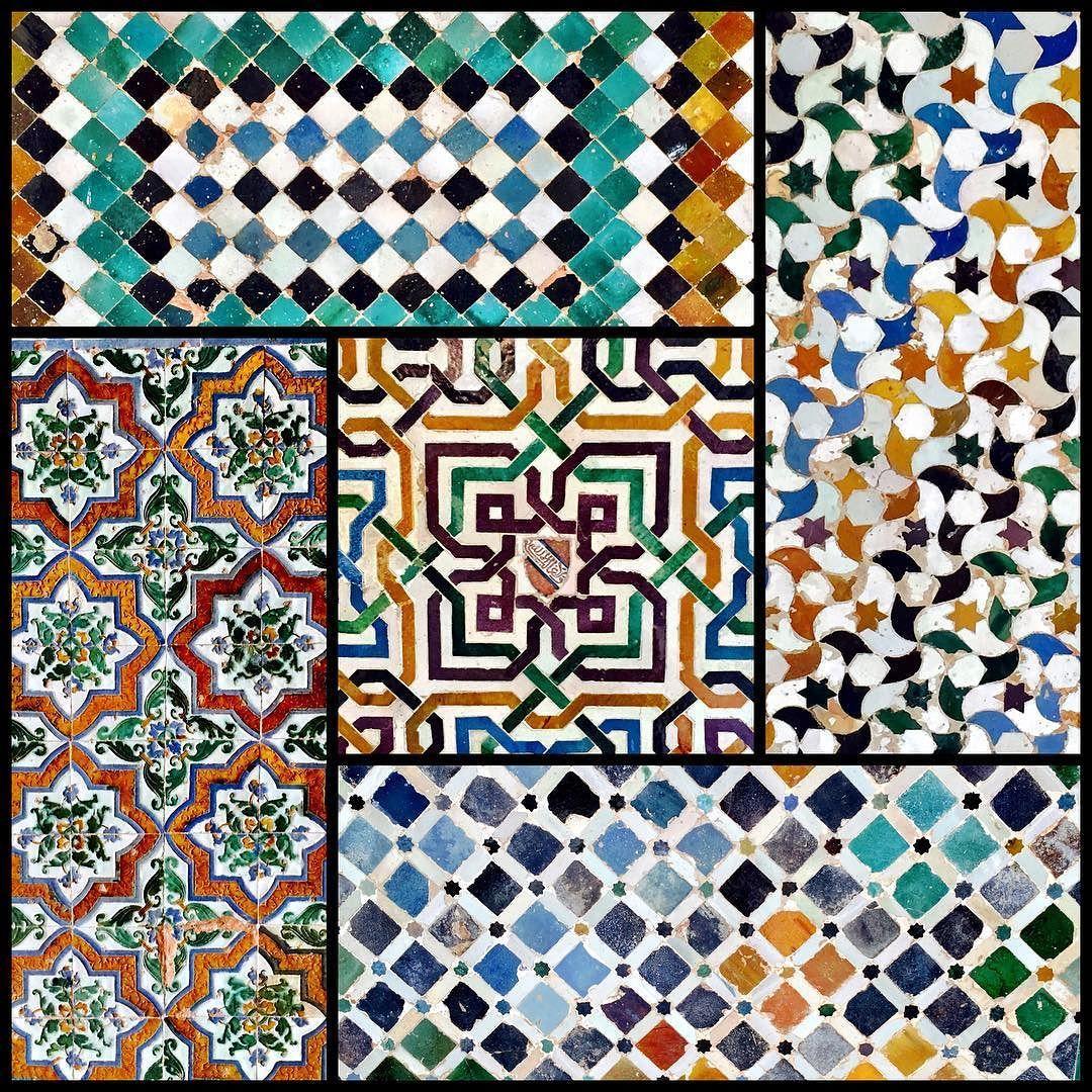 Alhambra Tiles Alhambra Granada Spain Color Tileaddiction Tilework Geometric By Forensicsgirl Tile Work Geometric Instagram Posts