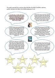 English worksheet: The genres of the films | Film resources - book ...