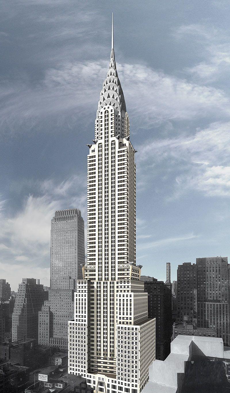 Chrysler Building Manhattan New York Vereinigte Staaten Von