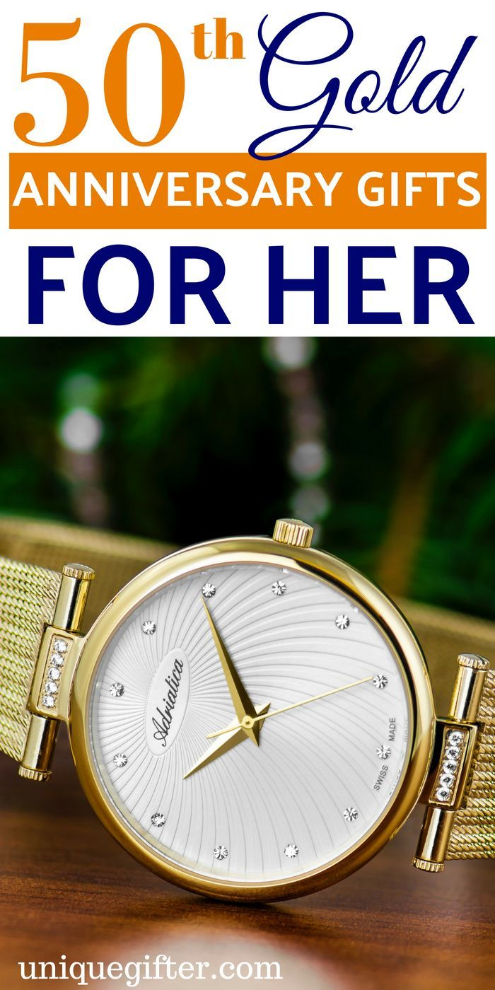 50th Gold Anniversary Gifts for Her Anniversary gifts