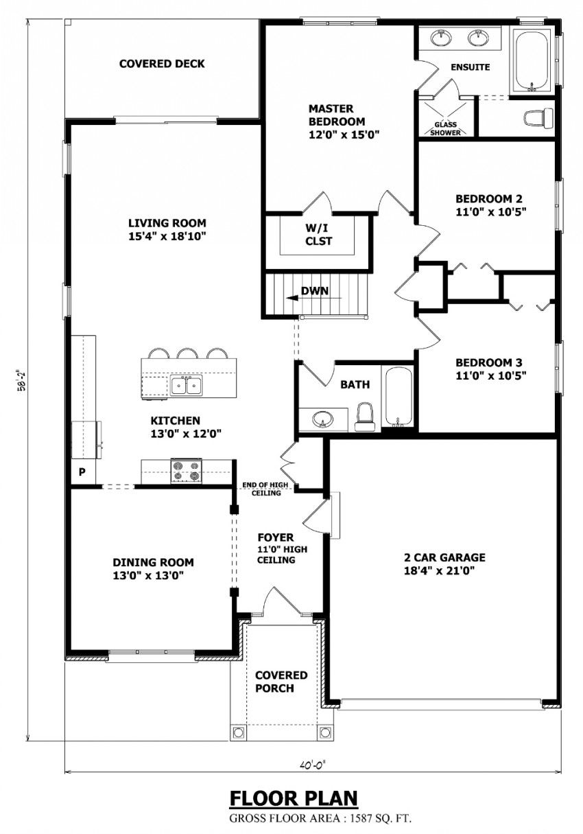 Amazing bungalow blueprints 1H6X Floor plans, Custom