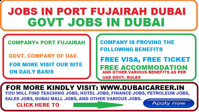 Jobs In Port Fujairah In United Arab Emirates 2019 Good