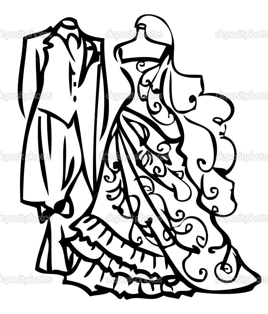 Couple Wedding Dress White And Black Bride And Groom Silhouette Couple Wedding Dress Wedding Dress Men