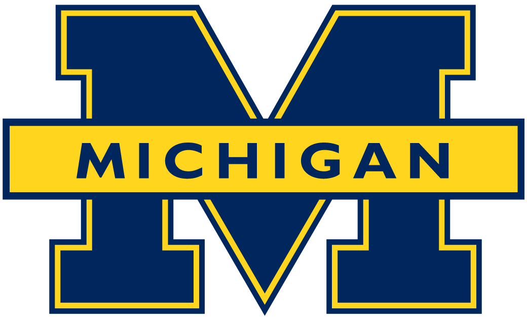 michigan wolverines primary logo ncaa division i i m ncaa i m rh pinterest com University of Michigan Football Logo University of Michigan Football Logo