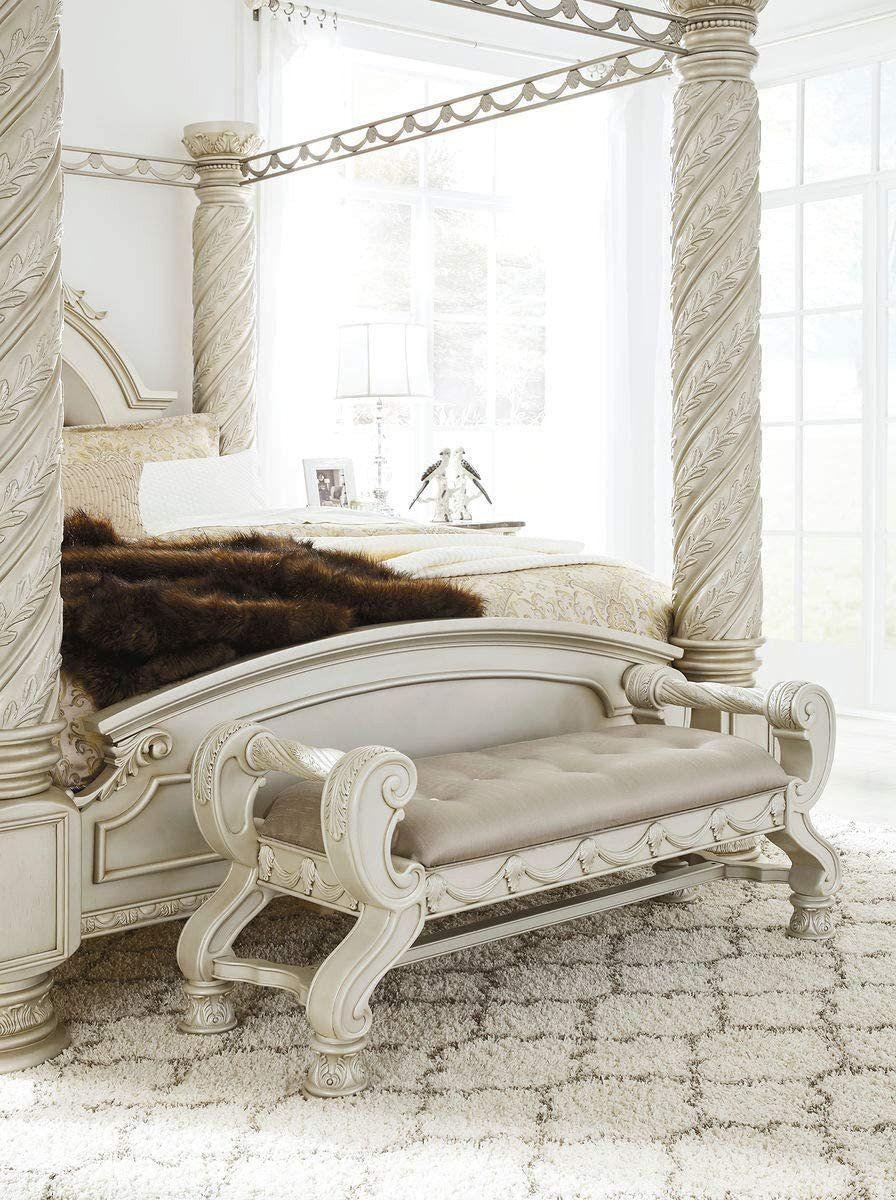 Ashley Bedroom Furniture Sale Amazon Ashley Furniture Signature Design Cassimore In 2020 Silver Bedroom Bedroom Furniture For Sale White And Silver Bedroom Furniture