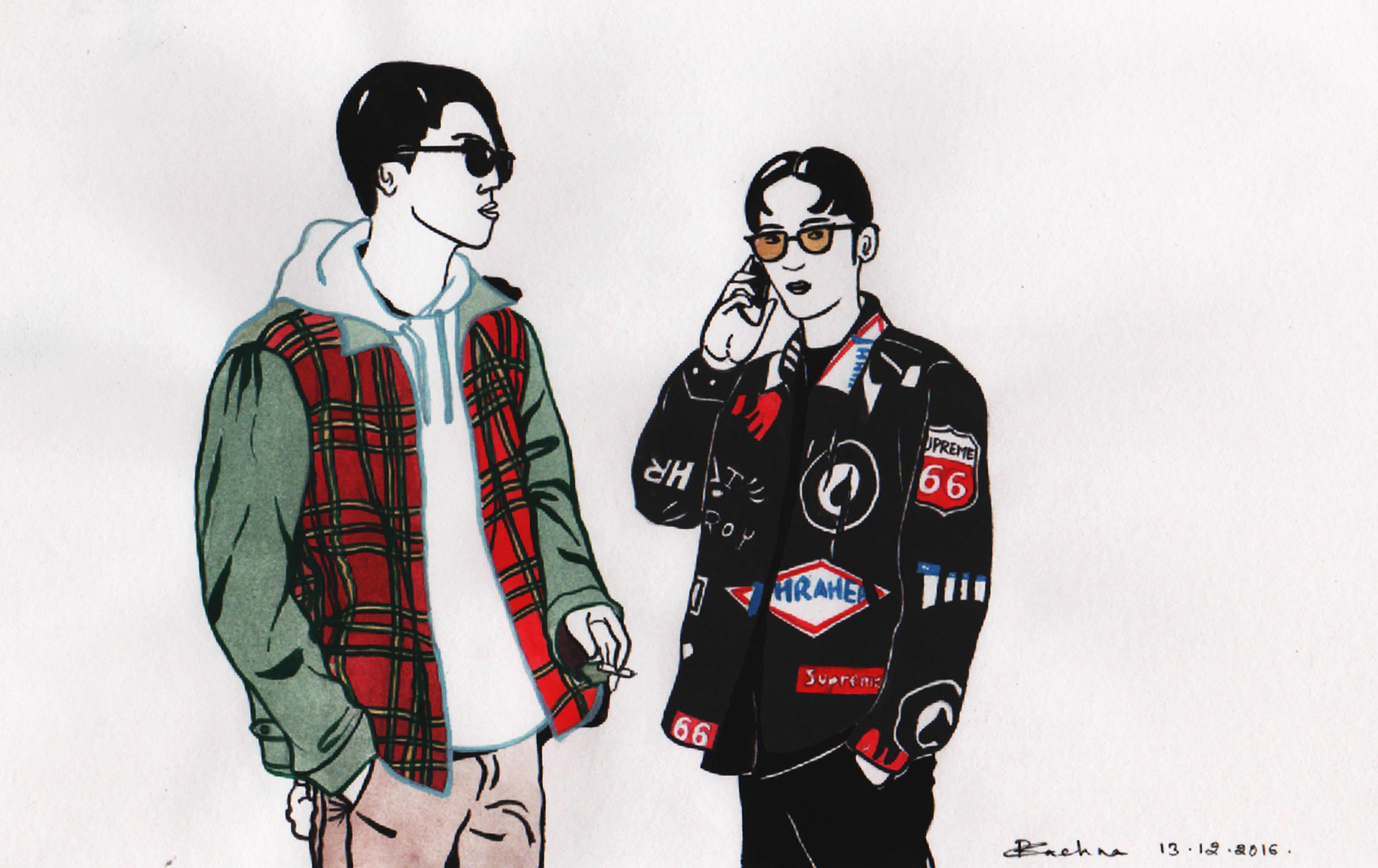 Seoul fashion week as captured by highsnobiety hand drawn and