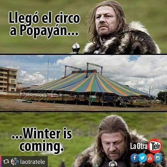 Llegó el invierno y @laotratele lo sabe. #WinterIsComing #JuegoDeTronos #GamesOfThrones  @nosoywachu