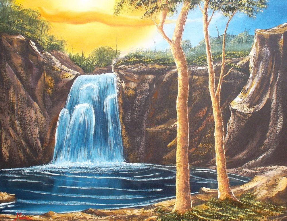 Paisajes de cascadas paisajes en 2018 pinterest - Ideas para pintar cuadros ...