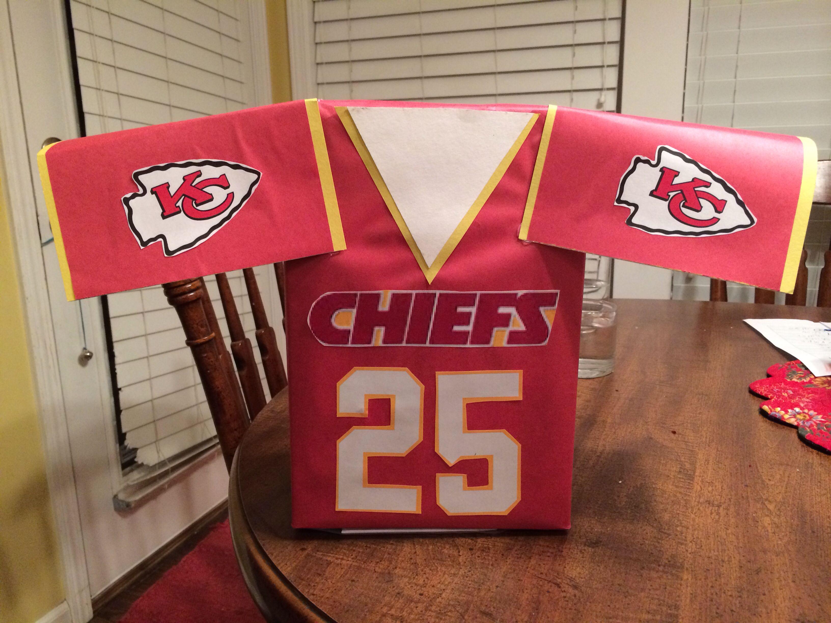 Decorate Valentine Box For Boy Chiefs Jersey Valentine Boxbut Auburn Or Panthersfalcons