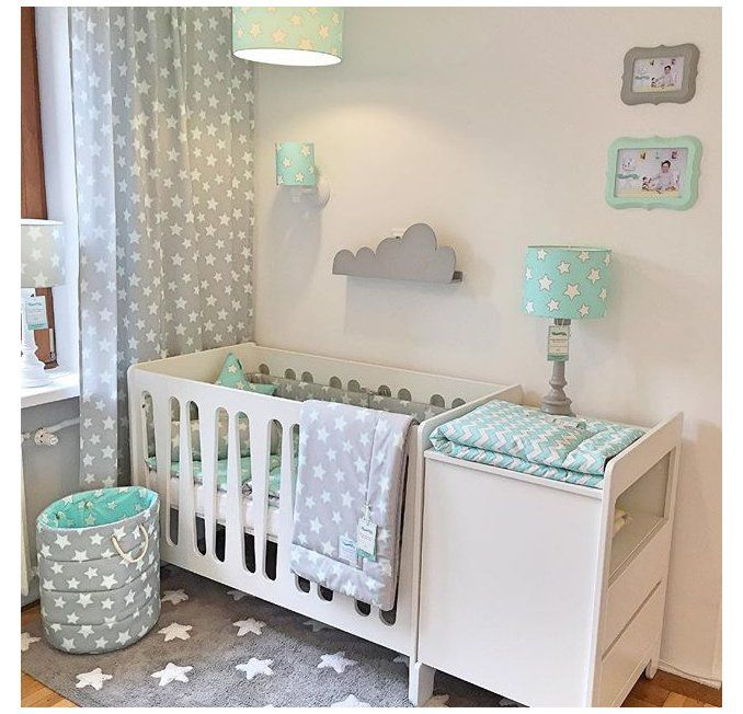 mint and grey nursery