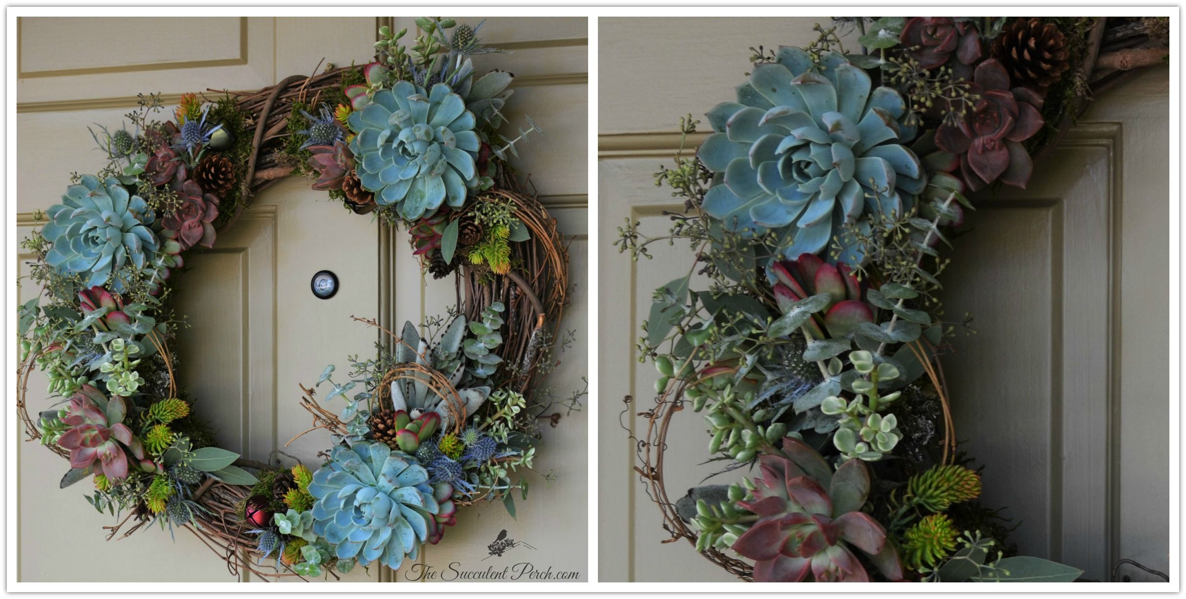 Wreaths for All Seasons and Occasions  designed by www.thesucculentperch.com
