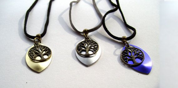 Large Scale Tree of Life Necklace  Blue by TheWhimsicalWodgelet, $15.00