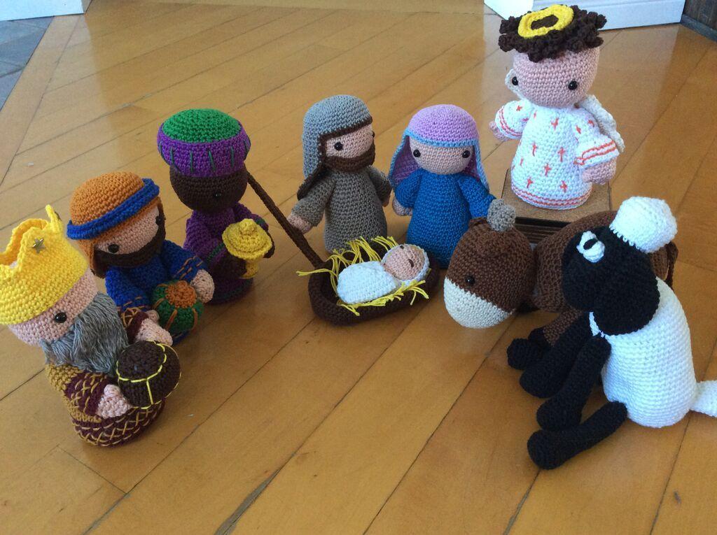 Crochet Nativity set Christmas