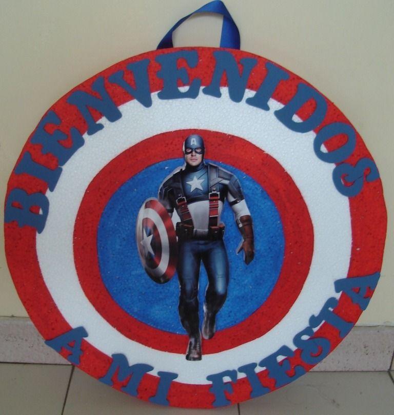 Centro De Mesa Capitán América: Los-vengadores-capitan-america-dispensador-chupetera