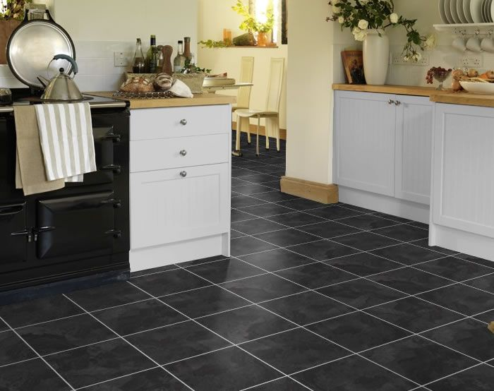karndean t88 onyx knight tile vinyl flooring is the