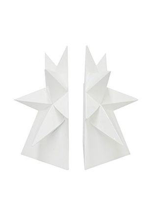 Three Hands Star Bookends, White