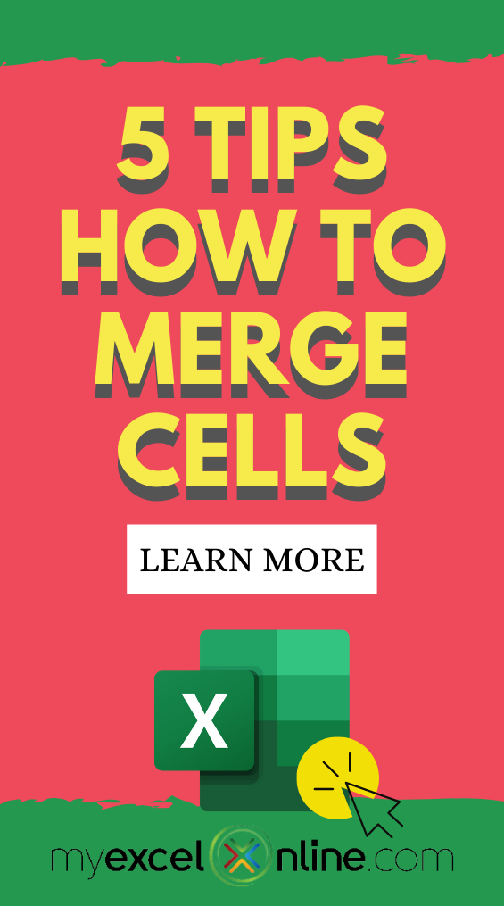 How To Merge Cells In Excel Ultimate Guide Excel For Beginners Excel Tutorials Education Quotes
