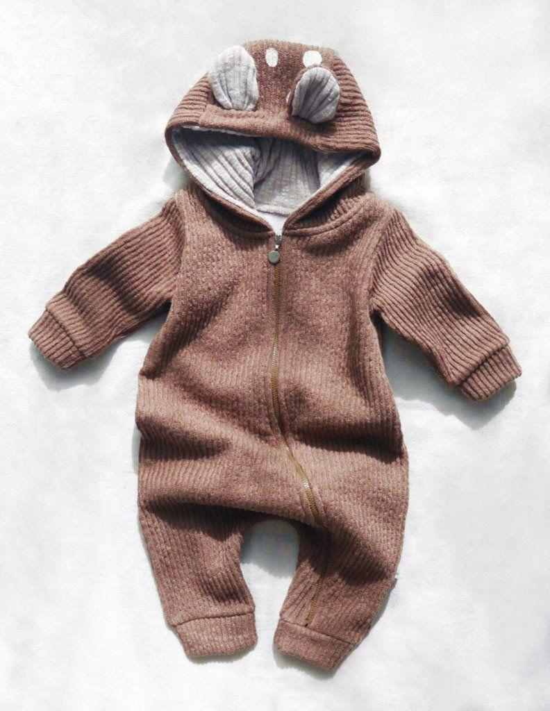 27e2c5729628 This winter edition of the Bambi jumpsuit is made from super thick knitted  cotton and fleece