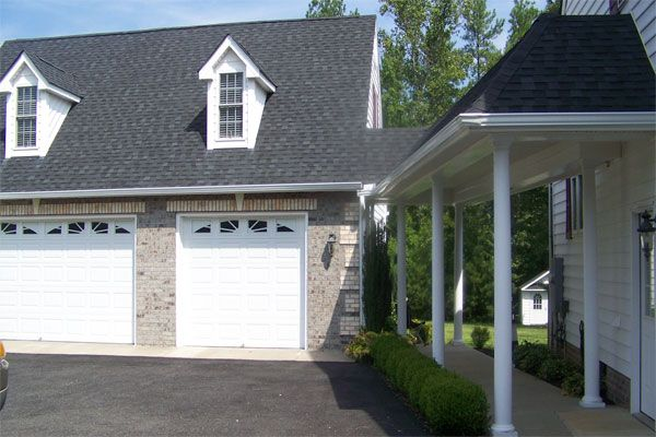 Adding attached garage with breezeway pictures griffith for Detached garage pool house