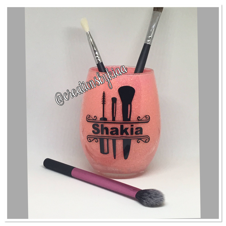 Makeup brush holder personalized makeup brush holder mua