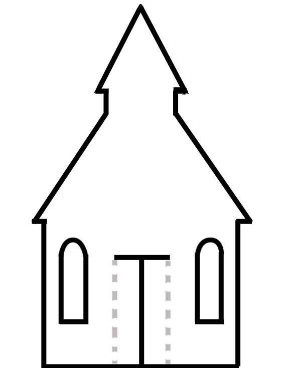 Decorate and cut out the church. Paste it onto
