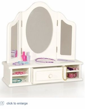 Table Top Vanity, Perfect For Little Girls Room.