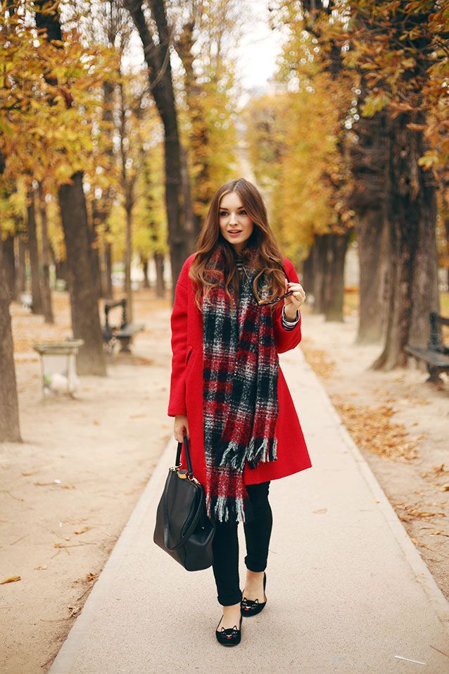 Warehouse Coat River Island Scarf Red Coat What Olivia Did ...