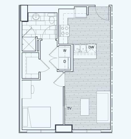1 Bedroom 1 Bathroom Floor Plan B Rise At Northgate