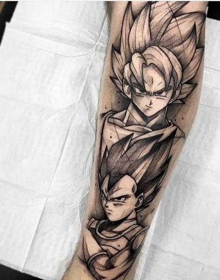 67 Ideas For Tattoo Dragon Ball Leg In 2020 Z Tattoo Gamer Tattoos Dbz Tattoo