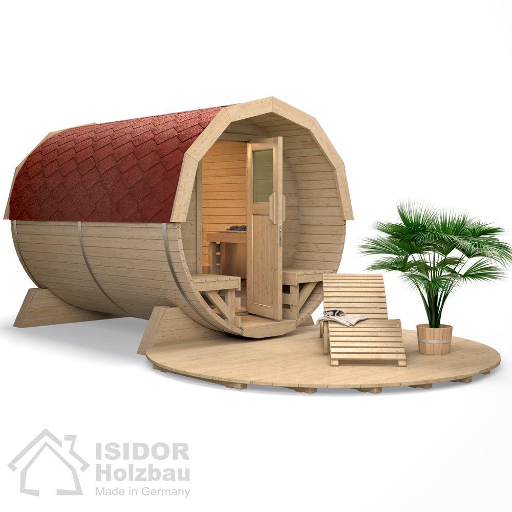 isidor fasssauna deluxe tonnensauna aussensauna gartensauna saunahaus saunafass sauna dusche. Black Bedroom Furniture Sets. Home Design Ideas