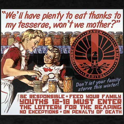Hunger Games propaganda.