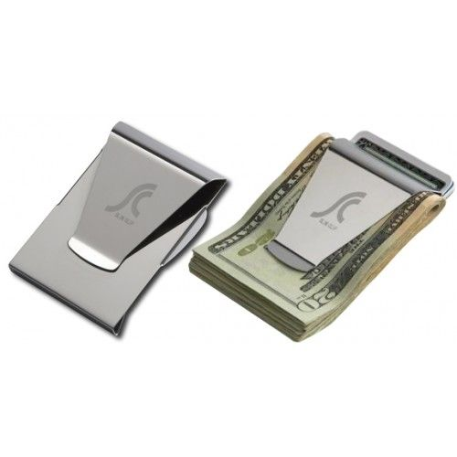 slim clip double sided money clip credit card holder bf - Money Clip And Card Holder