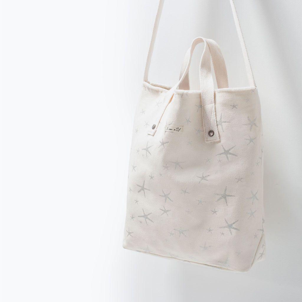 ZARA - SHOES & BAGS - PATTERNED FABRIC SHOPPER BAG