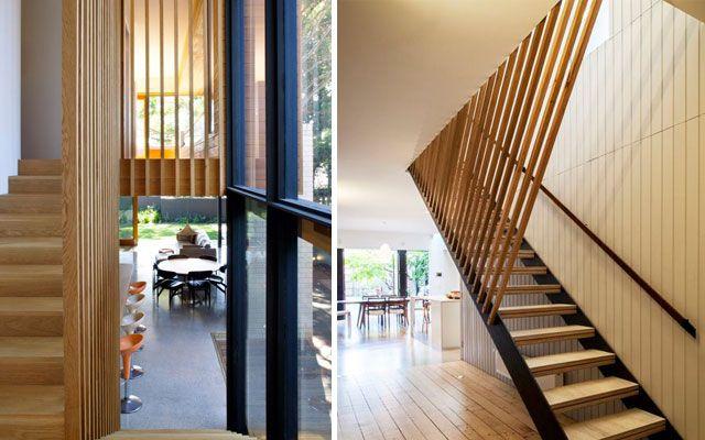 Ideas para decorar con barandillas y pasamanos ideas - Barandillas para escaleras interiores modernas ...