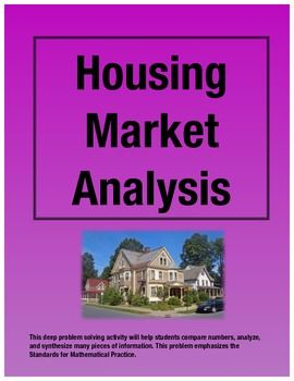Find Me A Home Housing Market Analysis Place Value Math Project