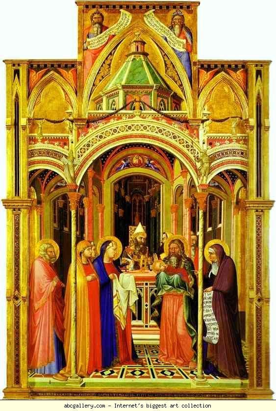 1342 The Presentation in the Temple.  Uffizi Firenze   AMBROGIO LORENZETTI (Siena, ca. 1290 – Siena, 1348)