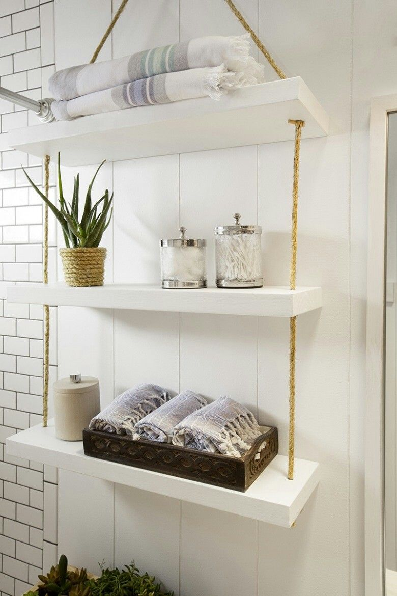 Hanging Bathroom Shelves Prepossessing Pinjessica Godnyuk On Bathroom  Pinterest Design Decoration