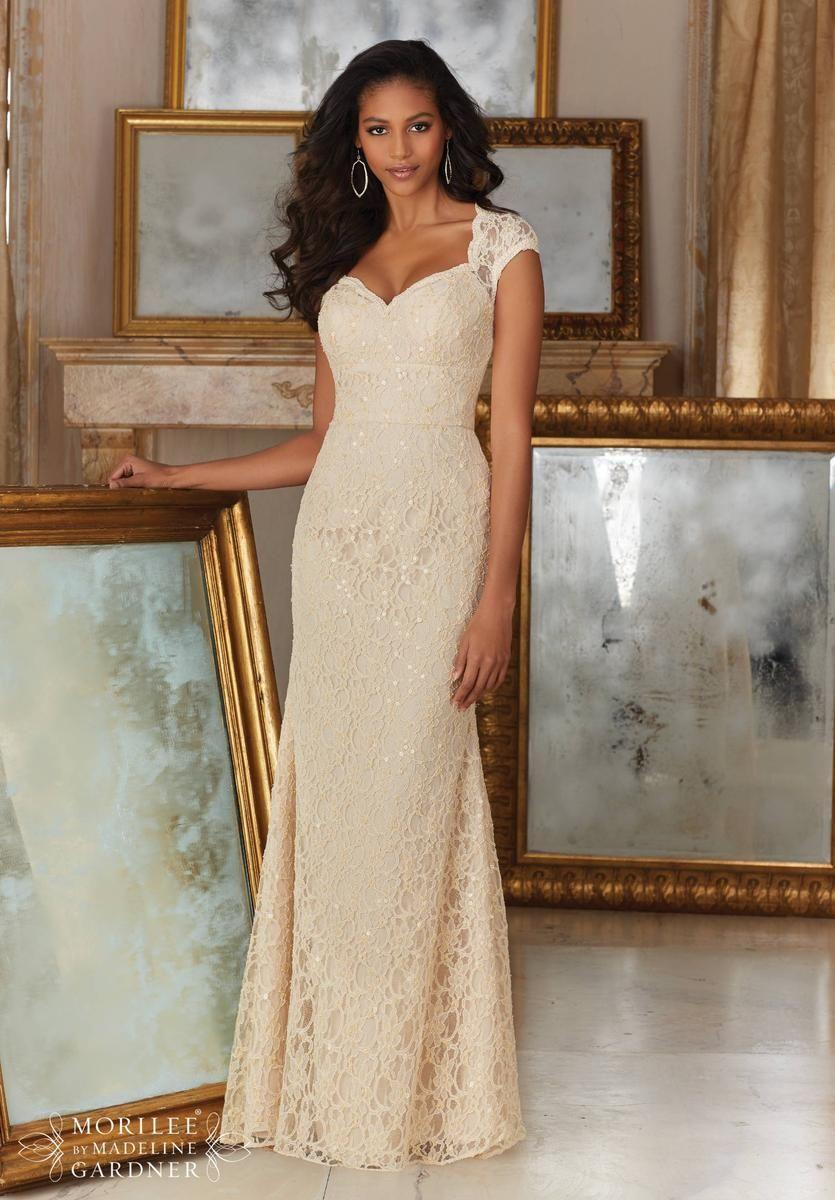 Mori lee bridesmaids 143 is a cap sleeve allover beaded lace long mori lee bridesmaids 143 is a cap sleeve allover beaded lace long bridesmaid dress with a ombrellifo Gallery
