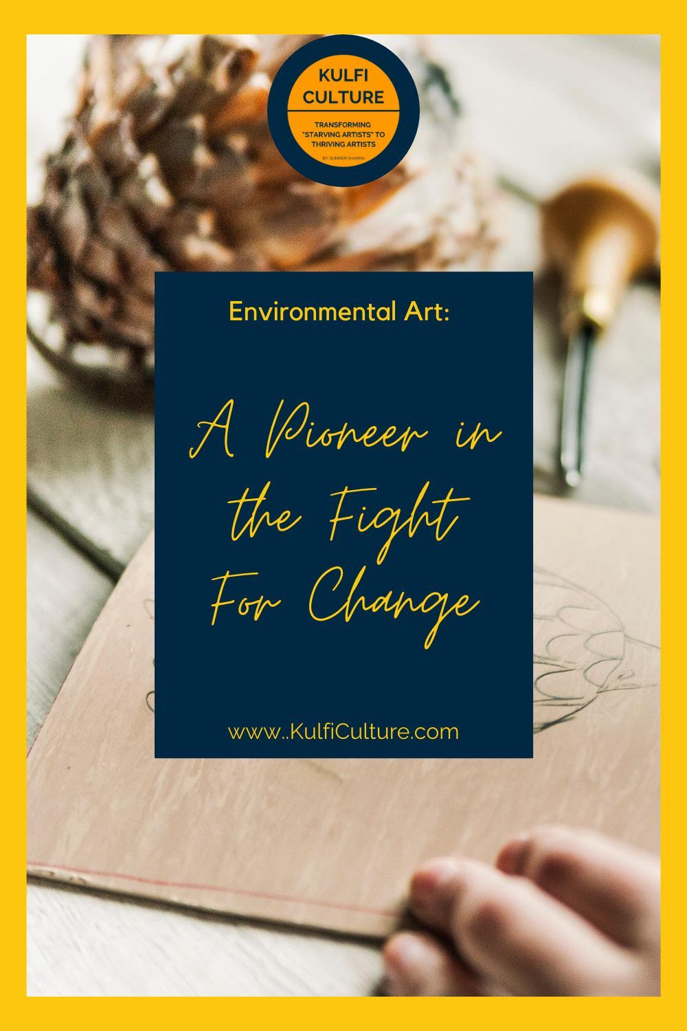Environmental Art: A Pioneer in the Fight for Change   Jessica Ganim, Guest Blogger for Kulfi Culture   Art is culture. It brings people together. So creative entrepreneurs have the unique opportunity to marry science and culture through their businesses. Discover how one incident in Scotland started the fight for environmental change.  #creativeentrepreneur #storyteller