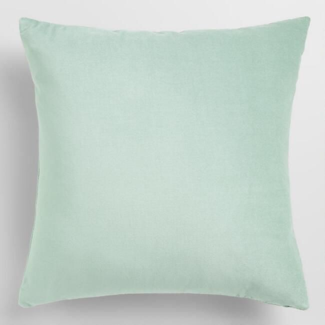 Bedroom Ocean Blue Velvet Throw Pillow 18 In World Market