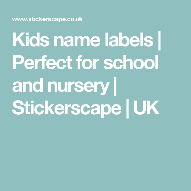 Kids Name Labels Kid Names