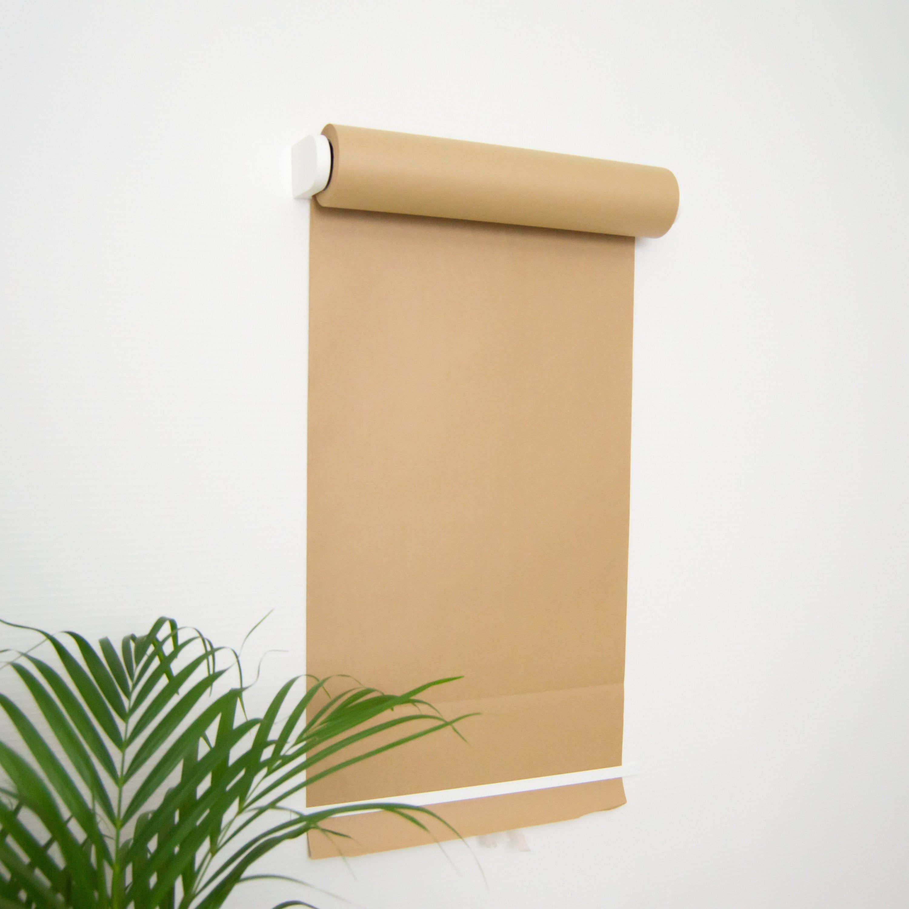 Paper Roller White Wall Mounted Paper Roller Paper Roll Etsy In 2020 Cafe Display Paper Roll Holders Paper Dispenser