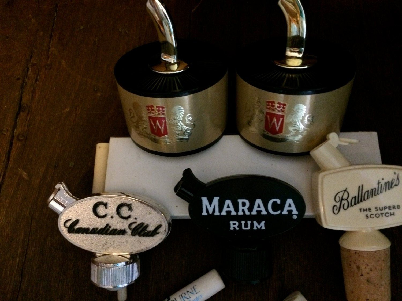 9 vintage liquor pourerscork screw pourers ballantines