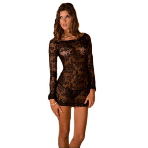 2 Piece Long Sleeve Chemise Dress And G-Set on http://lingeria.kerdeal.com/2-piece-long-sleeve-chemise-dress-and-g-set