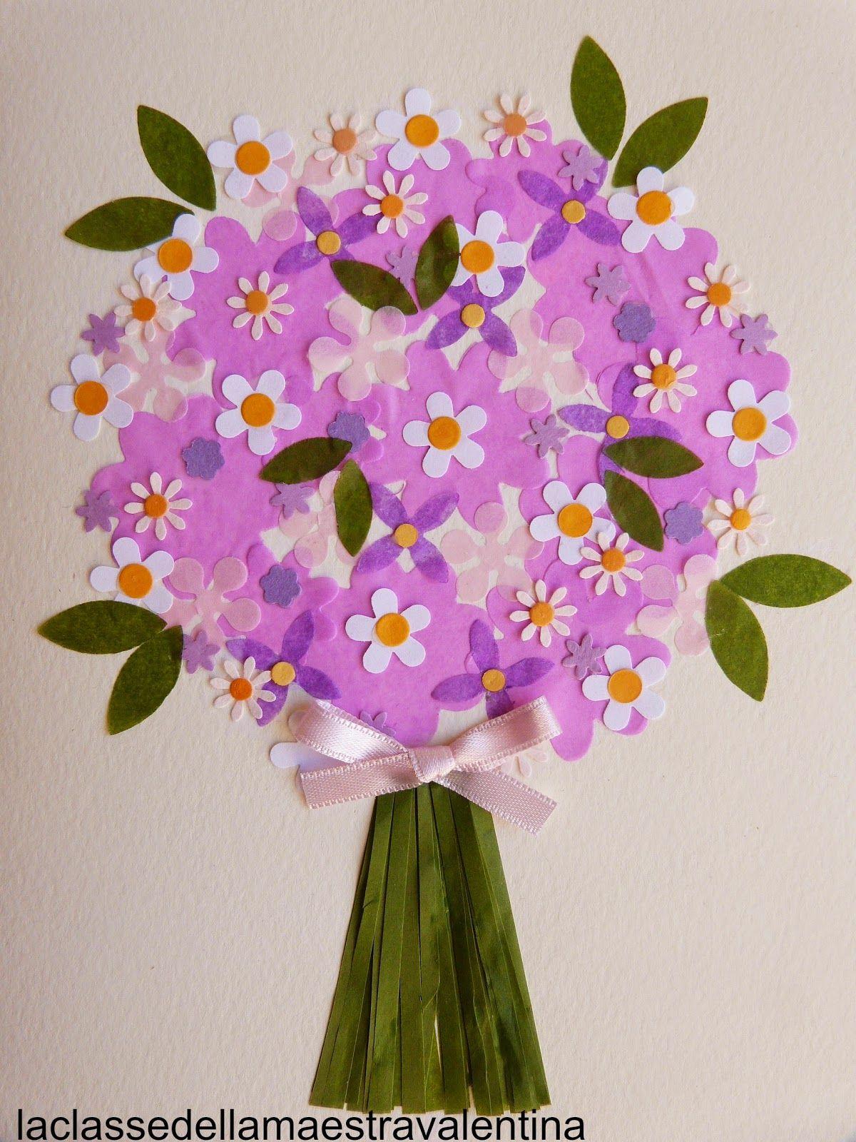 La classe della maestra valentina fiori carta primavera for La classe della maestra valentina primavera