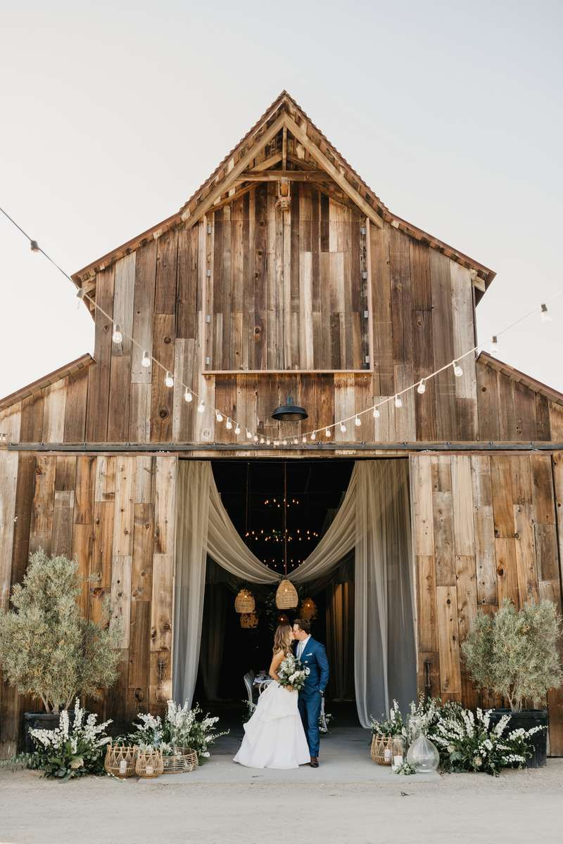 An elevated barn wedding at a ranch on californias